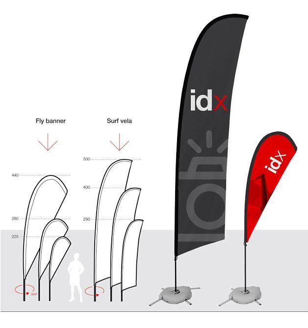 Fly banner 225 cm