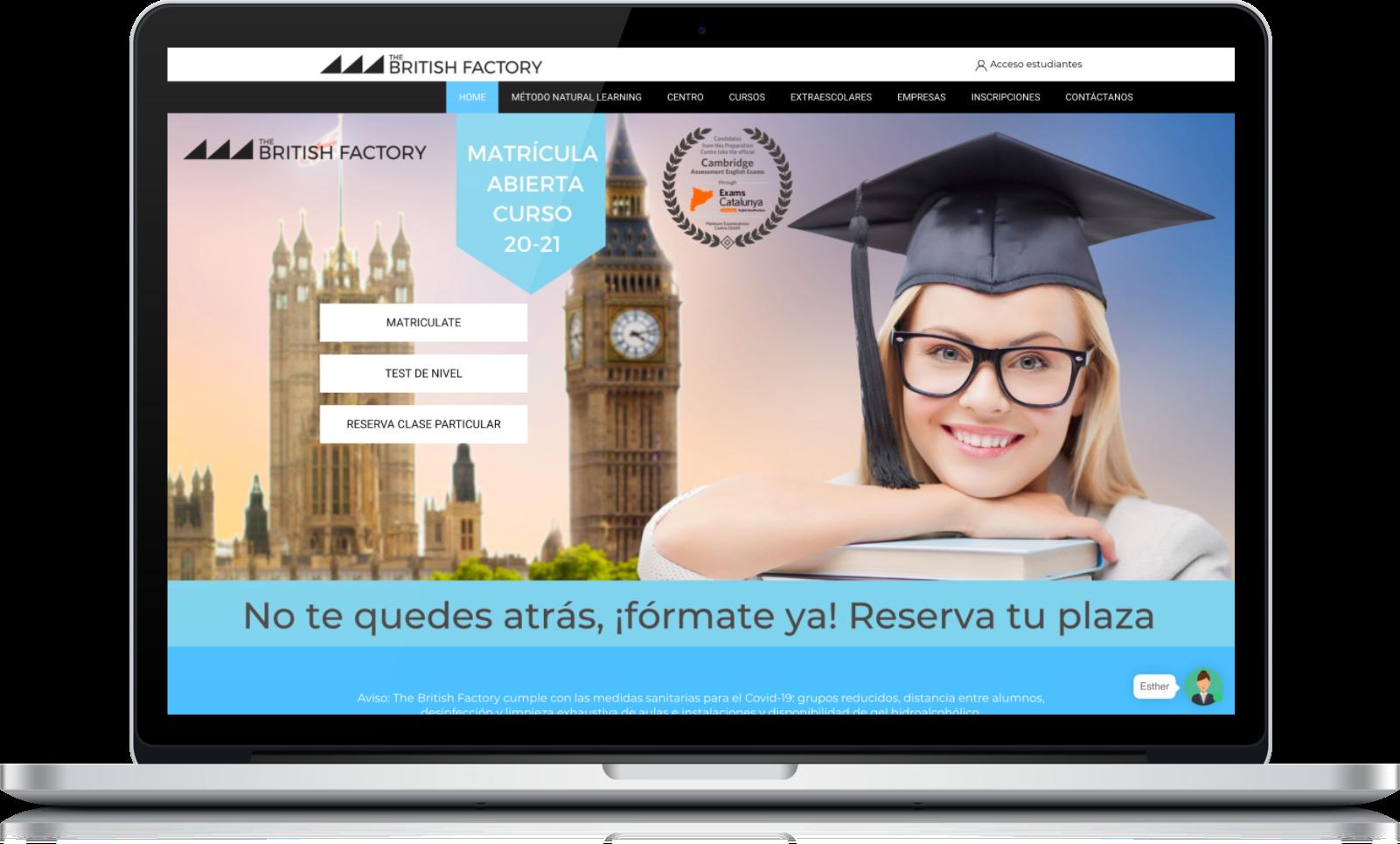 The British Factory, un disseny web eficaç i sorprenent